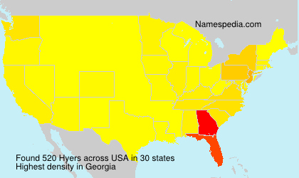 Surname Hyers in USA