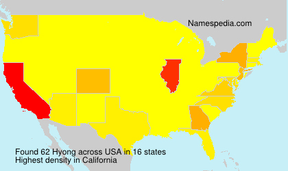 Surname Hyong in USA