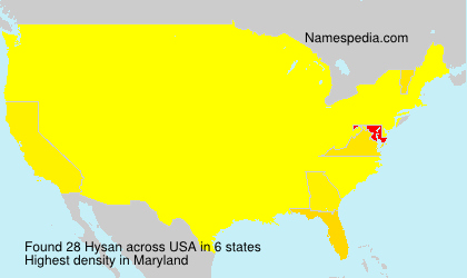 Surname Hysan in USA