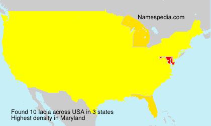 Surname Iacia in USA