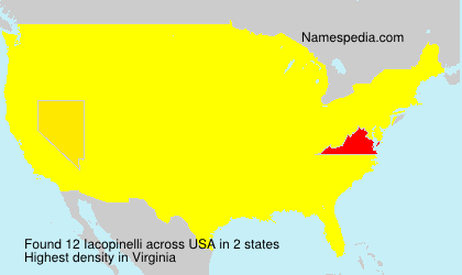 Surname Iacopinelli in USA