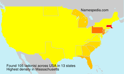 Surname Iadonisi in USA