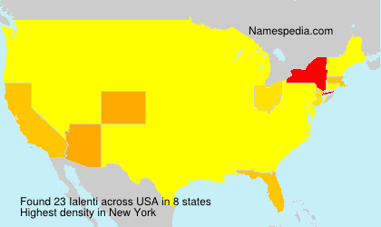 Surname Ialenti in USA