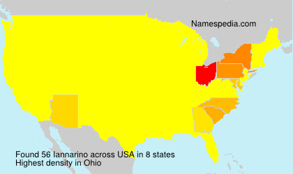 Surname Iannarino in USA