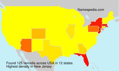 Surname Iannella in USA