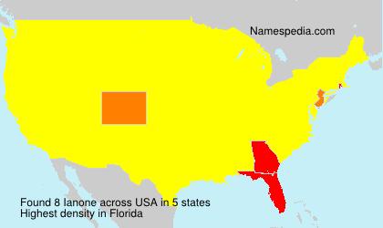 Familiennamen Ianone - USA