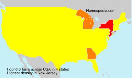 Familiennamen Iasia - USA