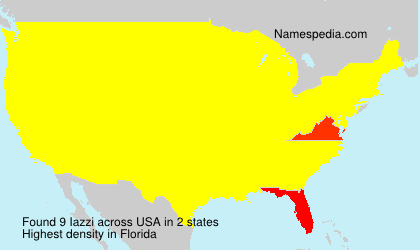 Surname Iazzi in USA