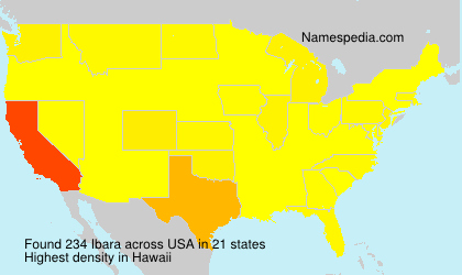 Surname Ibara in USA