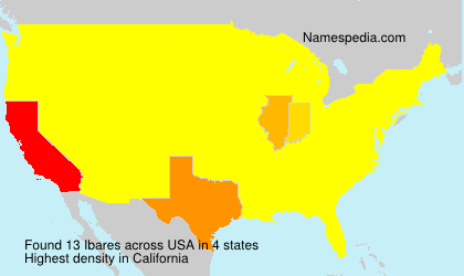 Surname Ibares in USA