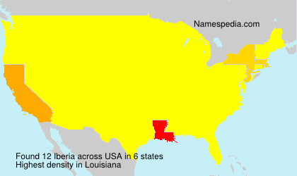 Surname Iberia in USA