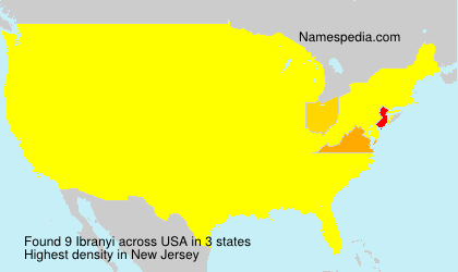 Familiennamen Ibranyi - USA
