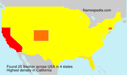 Surname Ibscher in USA