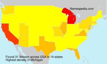 Surname Ibtisam in USA