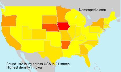 Familiennamen Iburg - USA