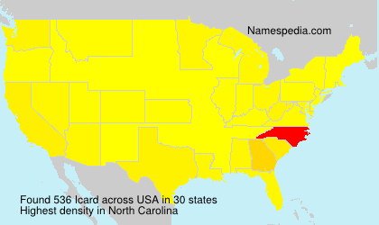 Surname Icard in USA