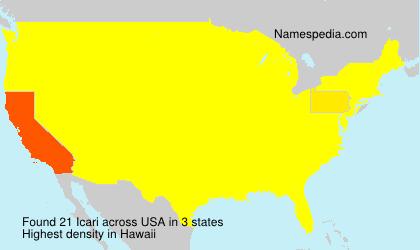 Surname Icari in USA