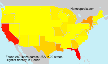 Surname Icaza in USA