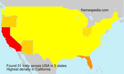 Surname Icely in USA