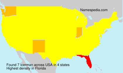 Surname Icerman in USA