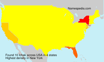 Surname Ichak in USA