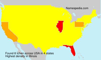 Surname Ichen in USA
