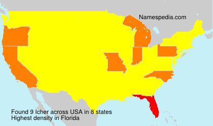 Surname Icher in USA