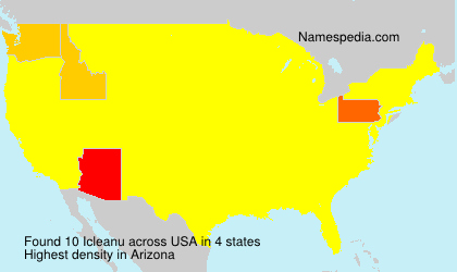 Surname Icleanu in USA