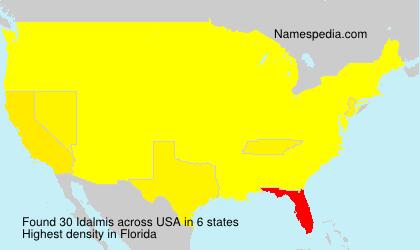 Familiennamen Idalmis - USA