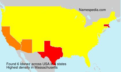 Familiennamen Idanez - USA