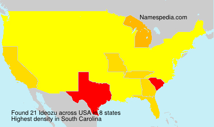 Surname Ideozu in USA