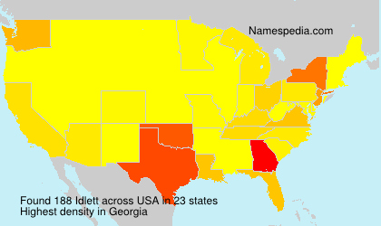 Surname Idlett in USA