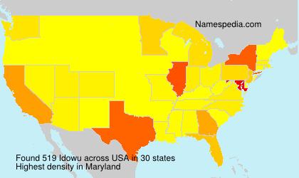 Surname Idowu in USA