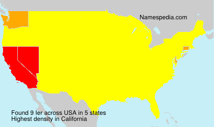 Surname Ier in USA