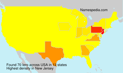 Surname Iero in USA