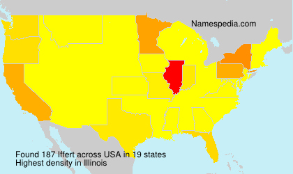 Surname Iffert in USA