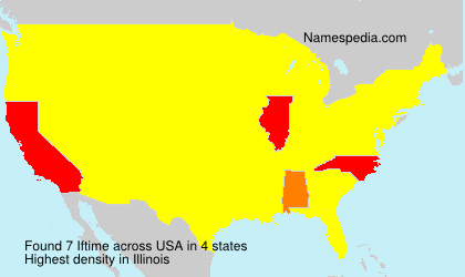 Surname Iftime in USA