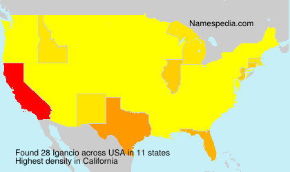 Surname Igancio in USA