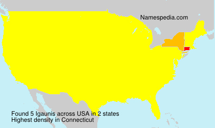 Surname Igaunis in USA