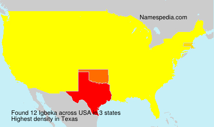 Surname Igbeka in USA