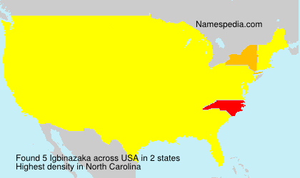 Surname Igbinazaka in USA
