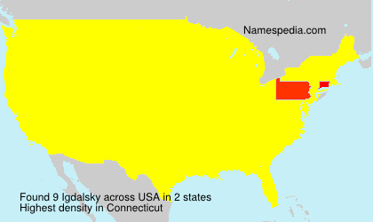 Surname Igdalsky in USA