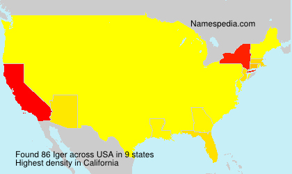 Surname Iger in USA