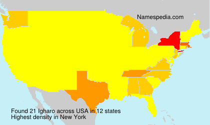 Surname Igharo in USA
