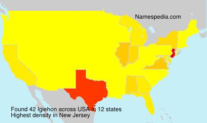 Familiennamen Igiehon - USA