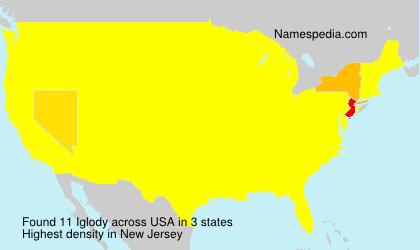 Familiennamen Iglody - USA