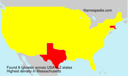 Familiennamen Iglowski - USA