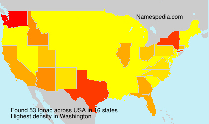 Surname Ignac in USA