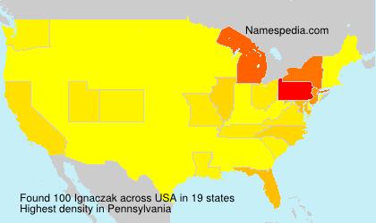 Familiennamen Ignaczak - USA