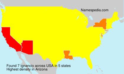 Surname Ignancio in USA